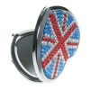 Union Jack Heart Compact Mirror