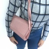 Pink Croc Effect Shoulder Bag