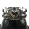 Kool Katana Wishbone Style Steel Ring