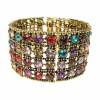 Multi Coloured Crystal Stack Bracelet