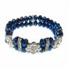 Blue Crystal and Flower Diamante Bracelet