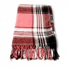 Pink and White Woven Check Scarf