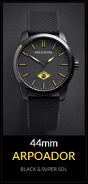 Amazuna Arpoador Watch - Black + Yellow - 44mm