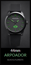 Amazuna Arpoador Watch - Black + Green - 44mm
