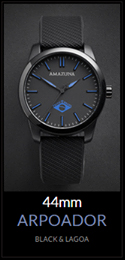Amazuna Arpoador Watch - Black + Blue - 44mm