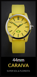 Amazuna Caraiva Watch - Yellow + Green - 44mm