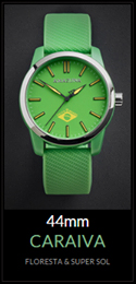 Amazuna Caraiva Watch - Green + Yellow - 44mm