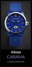 Amazuna Caraiva Watch - Blue + Yellow - 44mm
