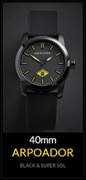 Amazuna Arpoador Watch - Black + Yellow - 40mm
