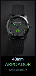 Amazuna Arpoador Watch - Black + Green - 40mm