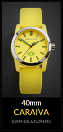 Amazuna Caraiva Watch - Yellow + Green - 40mm