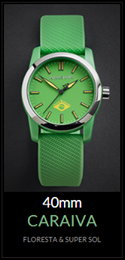 Amazuna Caraiva Watch - Green + Yellow - 40mm