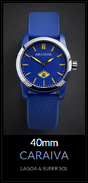 Amazuna Caraiva Watch - Blue + Yellow - 40mm
