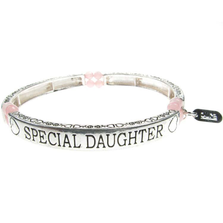 Rose Quartz Sentiment Bracelet
