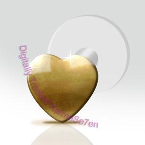 7f392c0f7 9ct Gold Flat Heart Tragus Stud Small - Unistylez.com