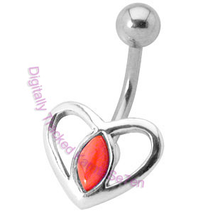 Heart - Red Coral - Belly Bar