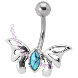 Butterfly - Turquoise  - Belly Bar