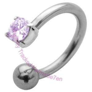 Jewel Charm - Lavender - Belly Ring