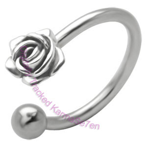 Rose Charm - Belly Ring
