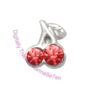 Cherries - Silver Nose Stud