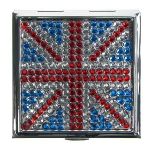 Union Jack Square Compact Mirror