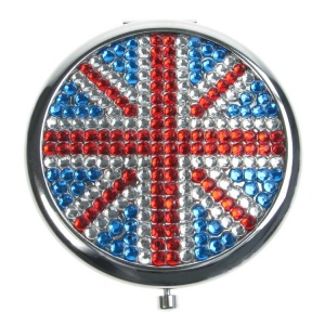 Union Jack Round Compact Mirror