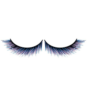 Blue and Black False Eyelashes Metallic