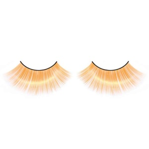 Orange False Eyelashes Full Flared