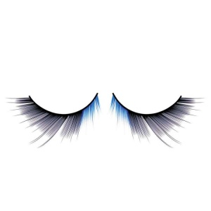 Black and Blue False Eyelashes Long Deluxe