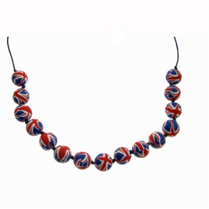 Union Jack Fimo Necklace