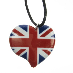 Union Jack Enamelled Heart and Chord