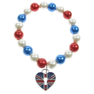 Union Jack and Pearl Bracelet