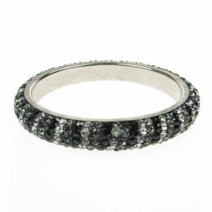 Silver Night Crystal Bangle
