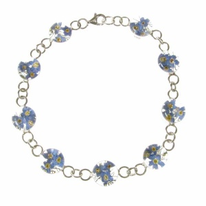 Forget-Me-Not Round Silver Bracelet