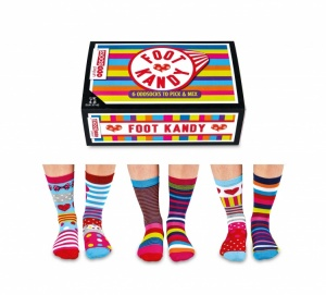 Oddsocks Foot Kandy 6 Sock Pack