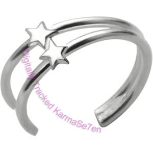 Double Stars Fake Ear Cuff