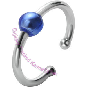 Blue Ball Fake BCR Piercing