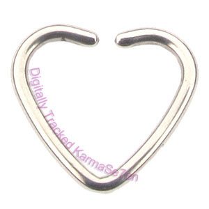 Steel Heart Fake Nose Piercing