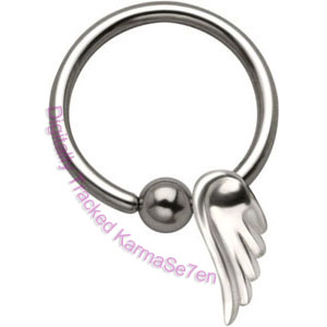 Angel Wing - Silver Charm BCR