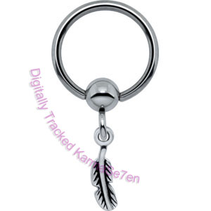 Feather - Silver Charm BCR