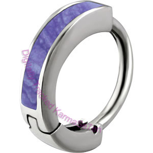 Purple Enamel - Belly Huggie