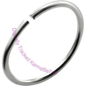 Plain Silver - Silver Nose Ring