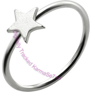 Silver Star - Silver Nose Ring