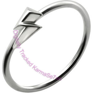 Lightening Bolt - Silver Nose Ring