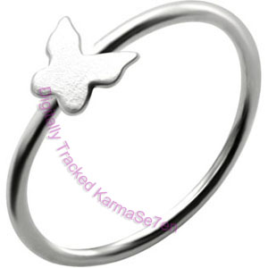 Butterfly - Silver Nose Ring