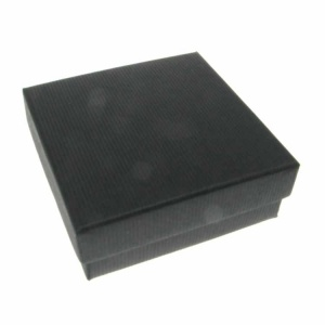 Ribbed Black Medium Box