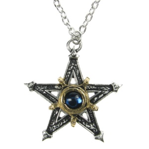 Alchemy Gothic Medieval Pentangle Pendant and Chain