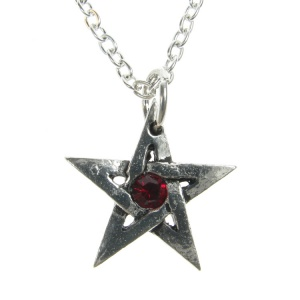 Alchemy Gothic Crystal Pentagram Pendant and Chain