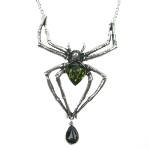 Alchemy Gothic Emerald Venom Pendant and Chain