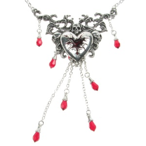 Alchemy Gothic Bleeding Heart Pendant and Chain